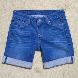 "J CREW Cuffed Denim 7.5"" Shorts 25/0 * Jean Shorts"